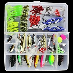 Best DealsOriGlam 101PCS Fishing Lure Set Kit Tackle LotsPortable Fun Baits For