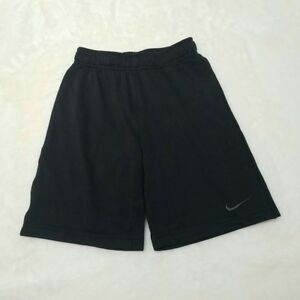 Nike Boys S Dry Fit Solid Black Basketball Shorts Athletic Child Stretch