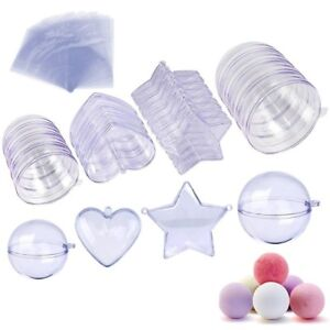 Bath Bomb Mold in 3 Different Sizes 20 Sets: Hearts Balls Stars Shapes NEW