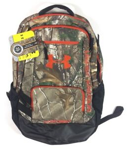 NEW Under Armour Camo Hustle Backpack Bag Realtree Ap-XtraDynamite One Size