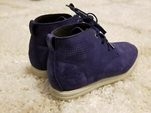 under armour boy's leather boots shoes size 2