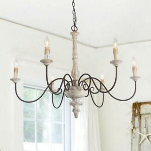 LNC 6-Light Shabby Chic French Country Chandelier Lighting Rustic Pendant Light