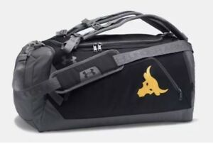 Under Armour Project Rock UA Contain Duo+ Backpack Duffel Bag The Rock
