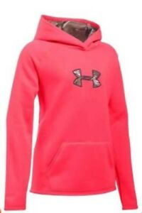 NWT sz Youth Small Girls Under Armour Storm Caliber Hoodie Pink Chroma Camo $50