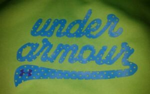 Girls Youth Under Armour Hoodie Sweatshirt Size XL X-Large Lime Green