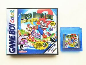 Super Mario Land 2 DX w Custom Case (NOW IN COLOR) Nintendo Game Boy GBC Deluxe