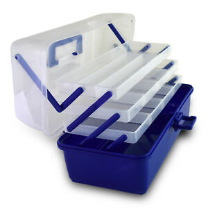 Fish Hook Bait Lure Box Tackle Storage Container Case Fishing 3 Layer
