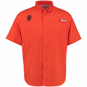 Columbia San Francisco Giants Orange Tamiami Button-Down Shirt