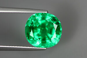 5.405 CT SSEF CERTIFIED NO OIL NR!!! COLOMBIAN GREEN EMERALD COLLECTOR GEM VIVID