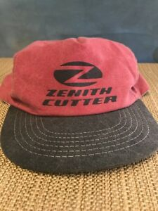 Vintage Zenith Cutter Co. Hat Snapback Trucker Style Red Made In USA