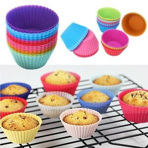 300 Pack - Silicone Round Shape Muffin Cupcake Liner Baking Mold - Random