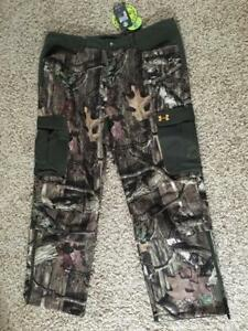 UNDER ARMOUR camo capture fleece hunting pants cold gear 42  32 NWT
