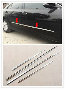 For Toyota Camry 2015-2017 Chrome Body Door Side Molding Cover Trim Garnish 4X