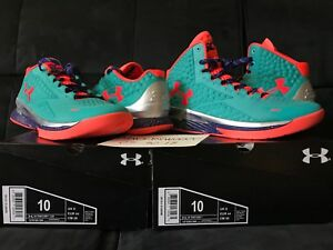 DS UNDER ARMOUR CURRY 1 SELECT CAMP STEPHEN CURRY MID & LOW SET SIZE 10 MEN NEW