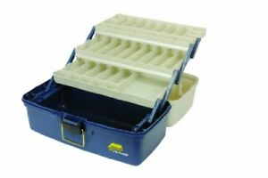 Plano Large Three Tray Tackle Box Fishing Lures Bait Full Storage Case Fish New