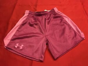 Ladies Teen Girl Under Armour Heat Gear 2 Tone Pink Shorts Size XS