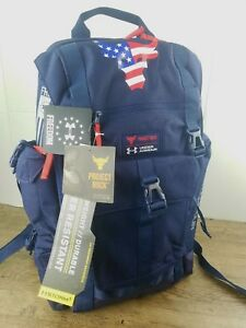 *Under Armour PROJECT ROCK FREEDOM BACKPACK U.S.A. TROOPS Dwayne Johnson *RARE