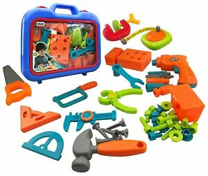 46-Piece Power Tools Construction Tool Set Kids Toys Learn Workshop Accessories