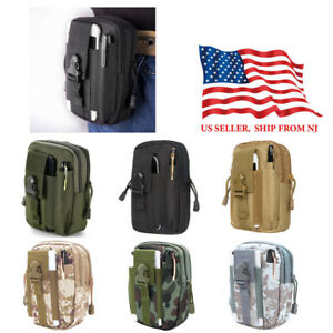 Tactical Molle Waist Pack Pouch Nylon Utility Outdoor Camping Hiking Belt Bag