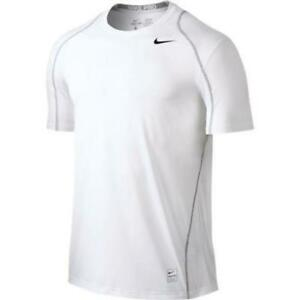 NIKE MEN'S PRO COOL DRY-FIT SS FITTED SHIRT White 703104-100 SZ- 2XL