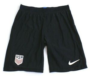 Nike Dri Fit USA Vapor Match Black Away Soccer Shorts Men's NWT