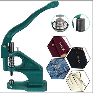 Hand Press Universal Green Machine for Studs Rivets Buttons Tool Arts