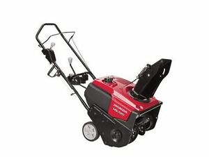 Honda 20 in. Single-Stage Electric Start Gas Snow Blower Large Clearing Engine