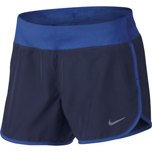 Nike Girl's Dry Rival Running Shorts Training Gym Fitness Blue LARGE
