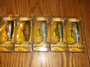 RIVER 2 SEA WHOPPER PLOPPER 90-LOT OF 5 DIFFERENT COLORED FISHING LURES