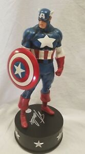 SIGNED By STAN LEE BOWEN CAPTAIN AMERICA CLASSIC STATUE Sideshow AVENGERS Bust