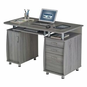Techni Mobili Complete Workstation Computer Desk with Storage Drawers