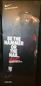RARE Lebron James Used Nike Pro Combat Be The Hammer Or The Nail Display Sign