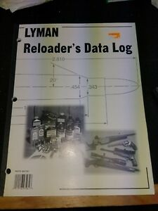 Lyman Reloading Data Log  9847261