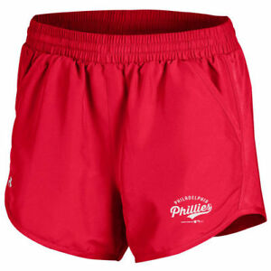 Under Armour Philadelphia Phillies Women's Red Fly By Performance Running Shorts
