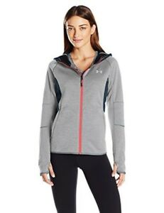 Under Armour Womens Storm Swacket Full Zip Stealth GrayStealth Gray Large