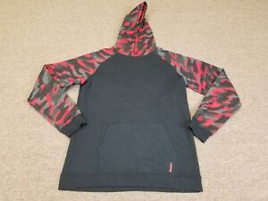 Mens UNDER ARMOUR Black Red Camo  Hoodie XL