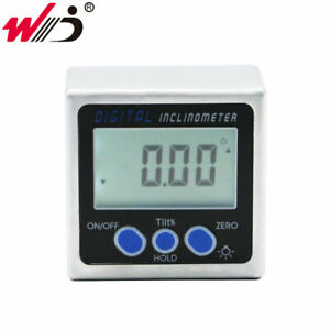 Aluminum Alloy Digital Protractor Inclinometer With Back Light Angle Bevel Box $29.11