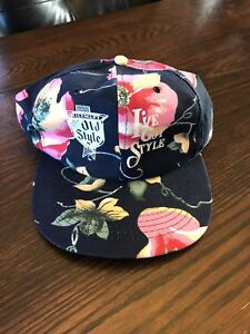 Old Style Beer Snapback Hat Cap Hawaiian Floral