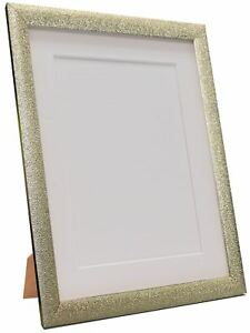 Glitz Champagne Silver Picture Photo Frame with White Black and Colour Mount