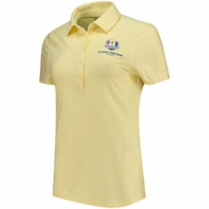 Under Armour Women's Yellow 2018 Ryder Cup Zinger Heathered Performance Polo