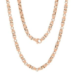 Men's Solid 14K Rose Gold Heavy 22