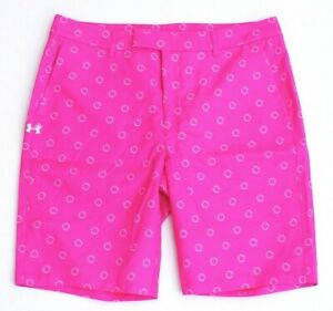 Under Armour Golf Pink Fitted Golf Shorts Women's NWT