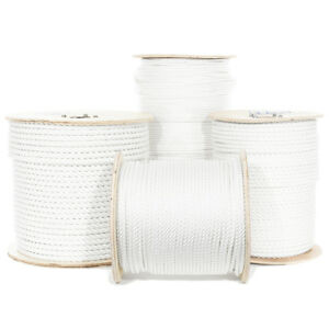 GOLBERG Twisted Polyester Rope White Low Stretch High Strength USA Made $28.99