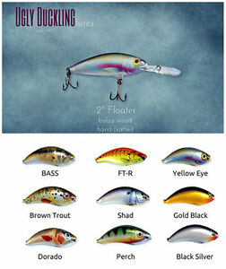 Lot of 9 Ugly Duckling Walleye Lure bass muskie New in Box