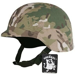 SHENKEL Tactical (Black) with Cover (Camouflage) Fritzs Helmet for Airsoft