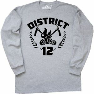 Inktastic District 12 Long Sleeve T-Shirt Panem Hunger Games Tribute Catching