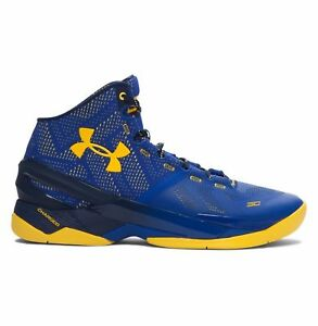 Under Armour UA Curry 2 Warriors Mens Size 8.5 9.0 Basketball Shoes 1259007-422