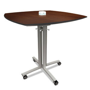 Reload Mobile Charging Table 36 x 36 x 29 Walnut
