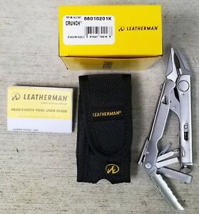 Leatherman Crunch Multi-Tool with Black Leather Sheath NIB 68010201K