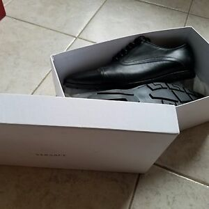 Versace Men's Black Designer Dress Shoes Once-worn (with box)